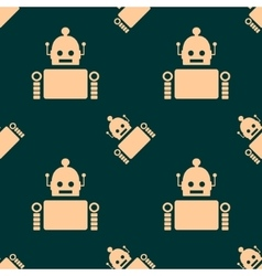 Cute vintage robot seamless background vector image vector image