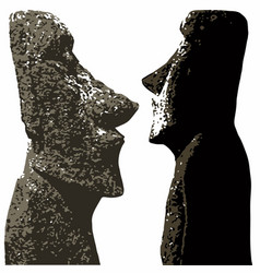 easter island heads vector image