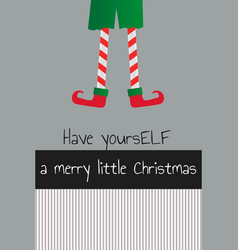 elf christmas new year card vector image