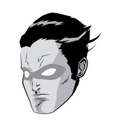 face super hero comic angry expression character vector image vector image