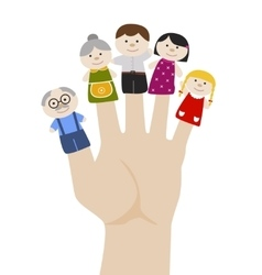 Family finger puppets vector image