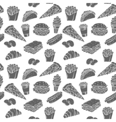 Fast Food decorative seamless pattern vector image vector image