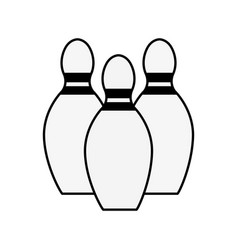 Figure bowling funny play icon vector