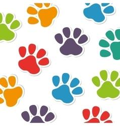 Foot print animal pattern vector