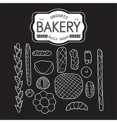 France bakery collection black and white vector