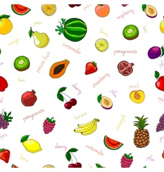 Fresh fruits seamless pattern vector image