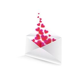 Heart in the envelope vector
