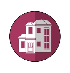 house family residential purple circle shadow vector image