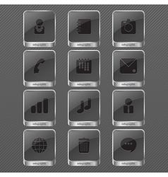 Infographic icon monochrome vector image