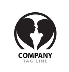 Interacial Love Logo vector image