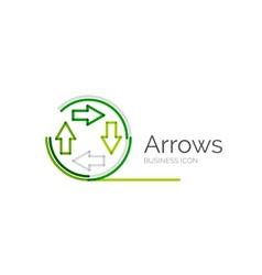 Line minimal design logo arrows vector