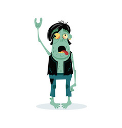 Punk rocker zombie character in cartoon style vector