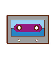 retro cassette isolated icon vector image