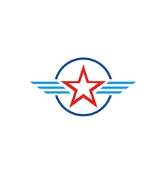 star america emblem wing logo vector image vector image