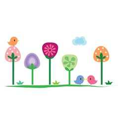 summer floral banner vector image vector image