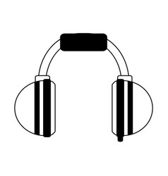Two tone headphones icon image vector