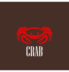 Vintage with a red crab vector