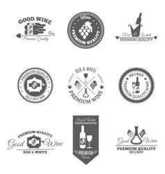Wine flat labels set vector