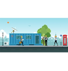 Container office vector