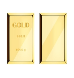 Gold bar on white background vector