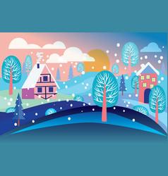 Winter landscape background vector