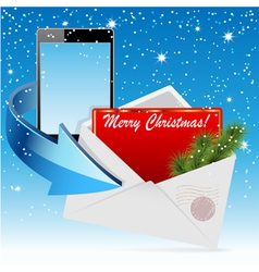Cristmas envelope card vector