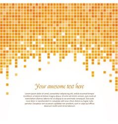 Orange pixel background vector image