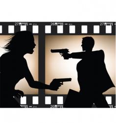 film scene silhouette vector image