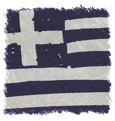 Flag of greece handmade square shape vector