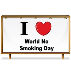 No smoking day vector