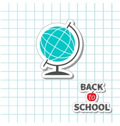 World globe back to school exercise book vector
