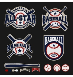 Baseball badge logo design for logos vector