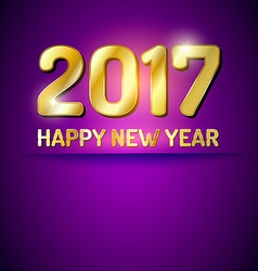Happy new year 2017 greetings card vector