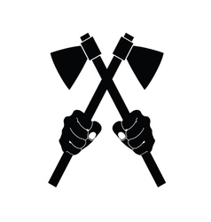 Axes tool in black vector