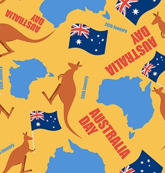Australia day seamless pattern ornament for vector