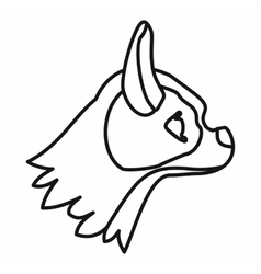 Pug dog icon outline style vector