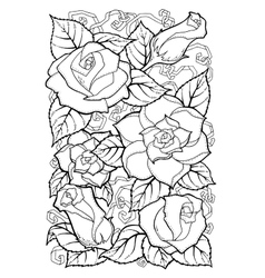 Hand drawn patterns with flowers ornate patterns vector