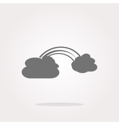 Abstract cloud web background isolated on vector image vector image