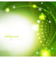 Abstract green shiny background vector image vector image