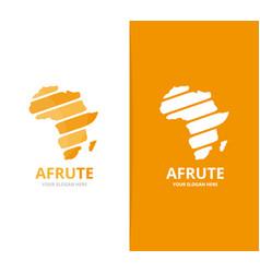 africa logo combination safari symbol or vector image
