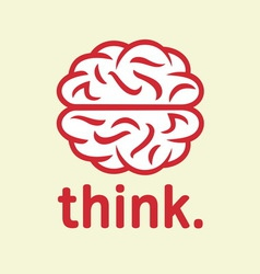 brain simple1 resize vector image vector image