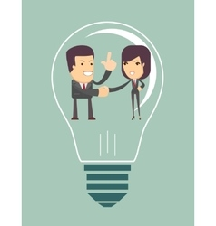 Business people agreed with the general idea vector