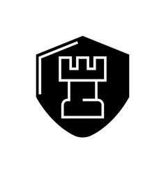 chess tactics icon black vector image