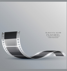 Clean film strip background vector