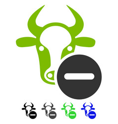 Cow remove flat icon vector