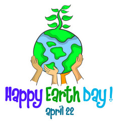 Design style happy earth day vector
