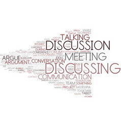 Discussing word cloud concept vector