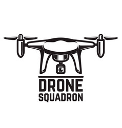 Drone isolated on white background vector
