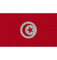 Flags Tunisia on denim texture vector image vector image