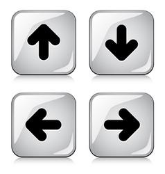 Glossy arrow buttons vector
